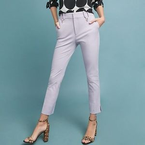 NWT Anthro Lavender The Essential Slim Trousers 14